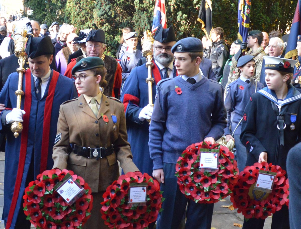 Remembrance Sunday 2019 entering St Mary's Church